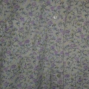 Vintage floral button down blouse